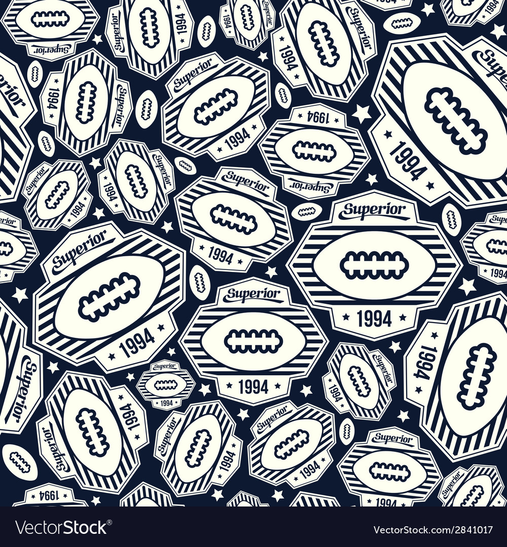 Seamless pattern rugby emblem vector | Price: 1 Credit (USD $1)