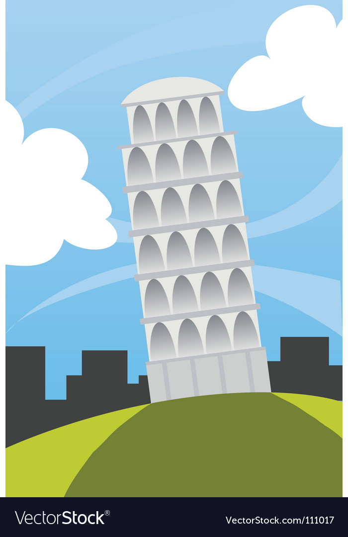 Tower of pisa vector | Price: 1 Credit (USD $1)