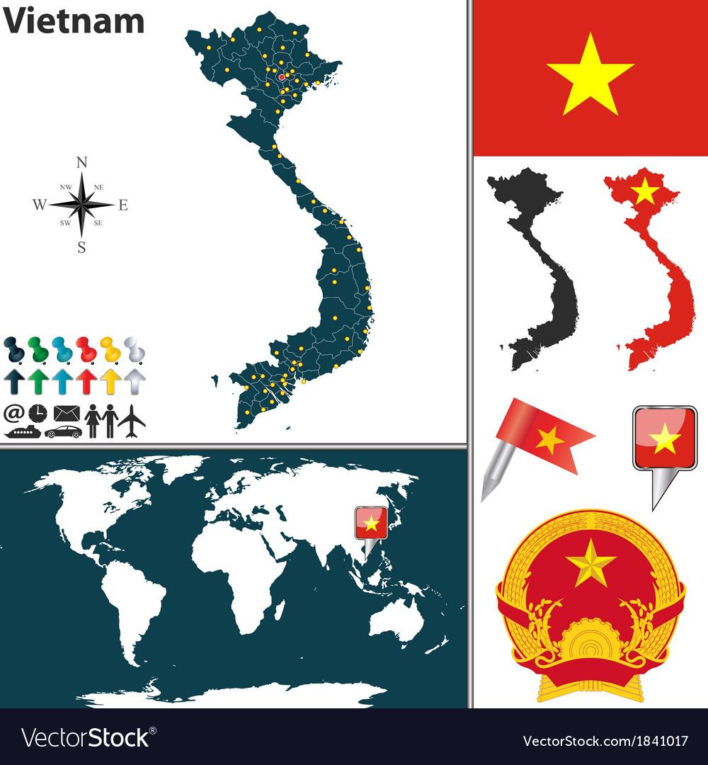 Vietnam map world vector   Price: 1 Credit (USD $1)