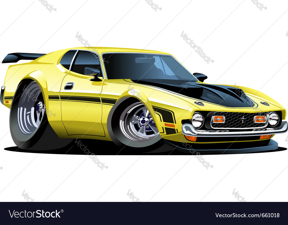 Cartoon muscle car vector | Price: 3 Credit (USD $3)