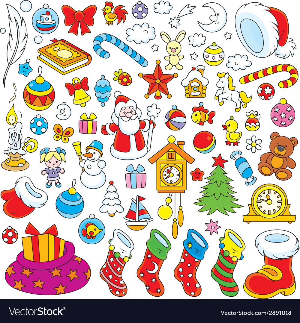 Christmas decorations vector | Price: 3 Credit (USD $3)