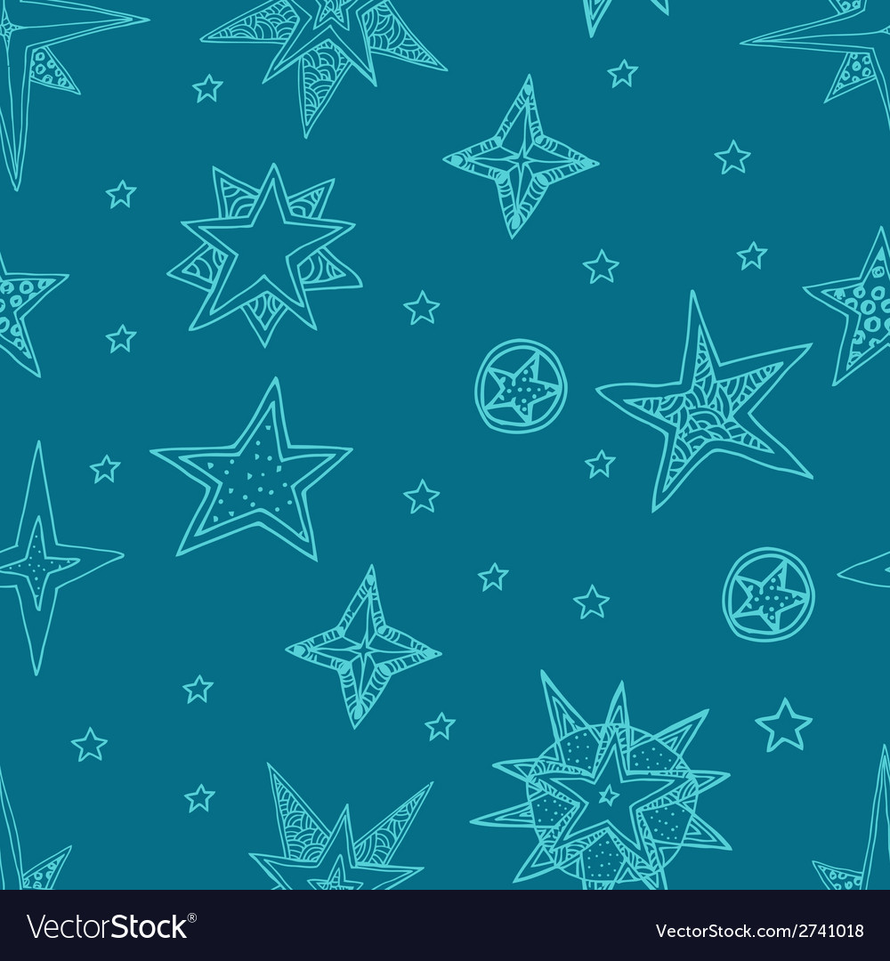 Hand drawn stars vector | Price: 1 Credit (USD $1)
