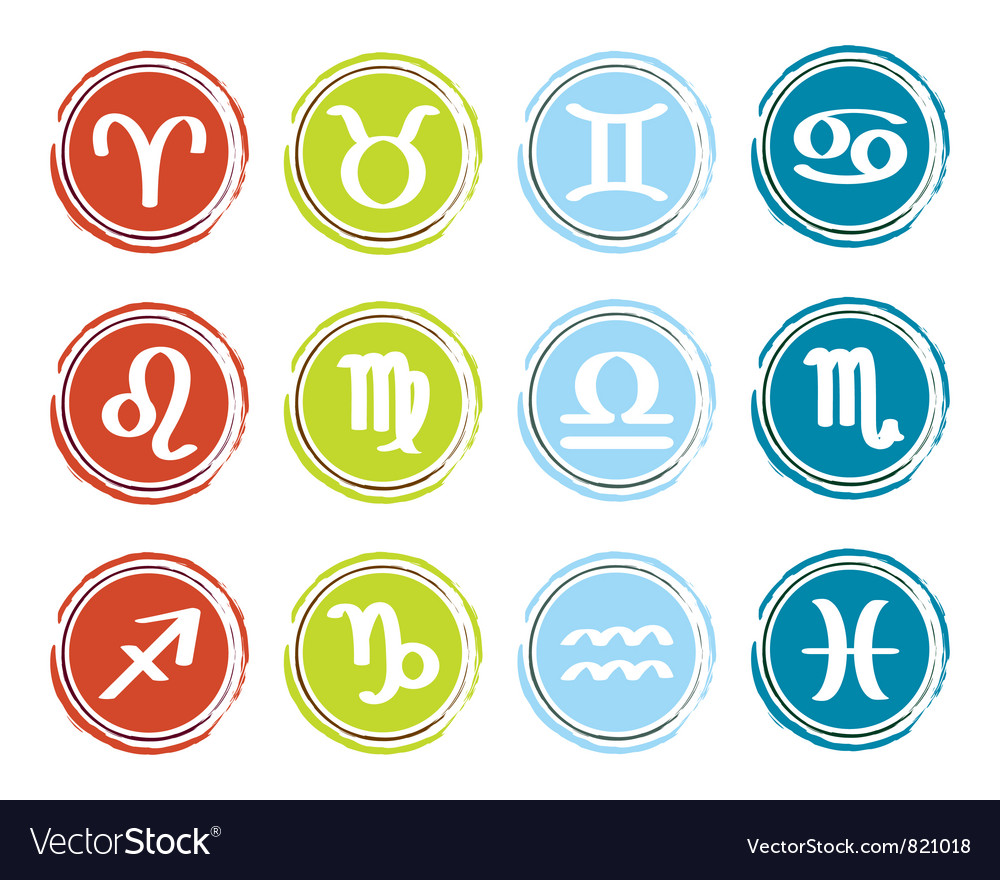 Horoscope zodiac signs vector | Price: 1 Credit (USD $1)