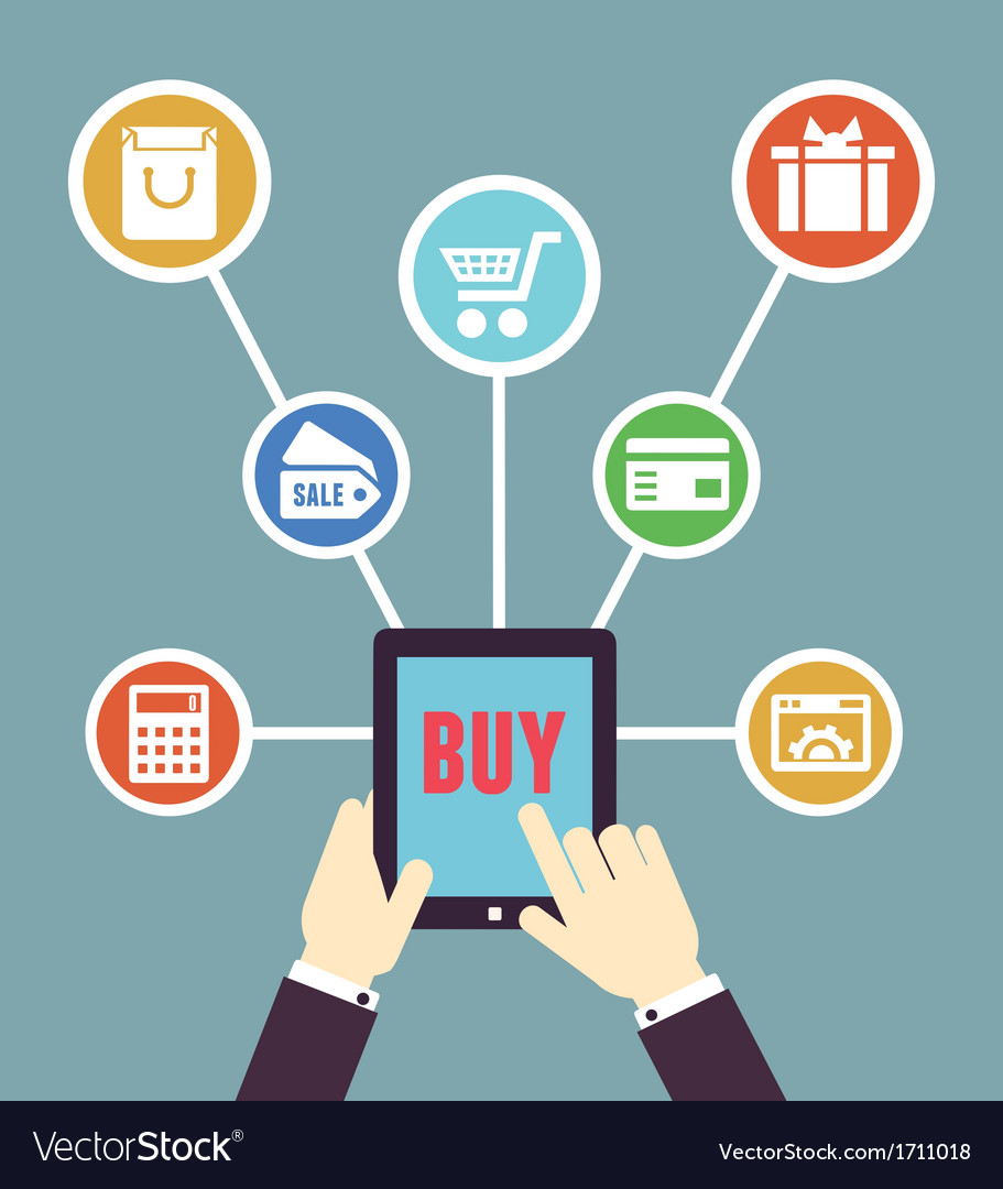 Internet shopping mobile order and payment vector | Price: 1 Credit (USD $1)