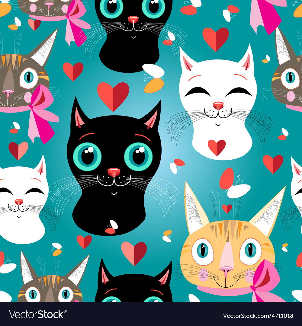 Pattern cats vector | Price: 1 Credit (USD $1)