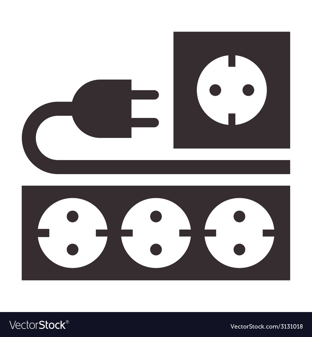 Power outlet plug and socket sign vector | Price: 1 Credit (USD $1)