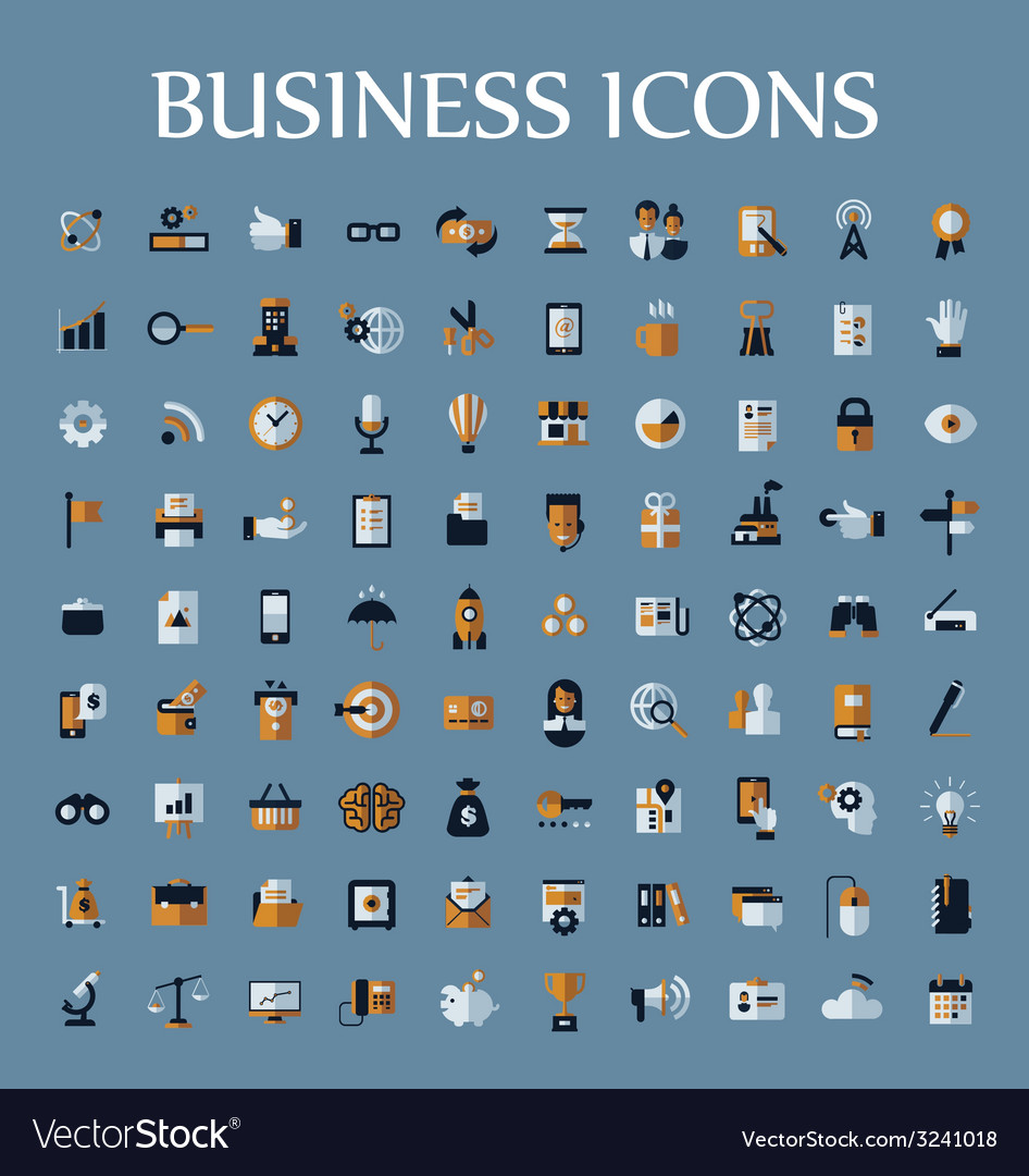 Set of web icons for business communication and vector | Price: 1 Credit (USD $1)