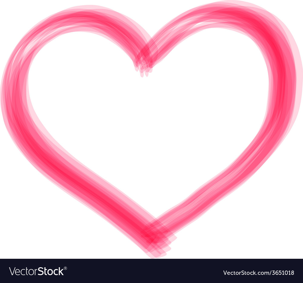 Transparent brush heart vector | Price: 1 Credit (USD $1)