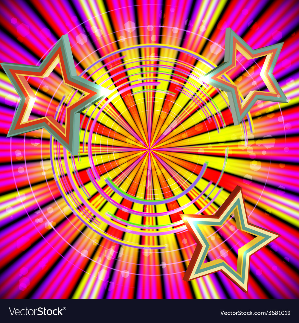 Abstract background with light rays and stars vector | Price: 1 Credit (USD $1)