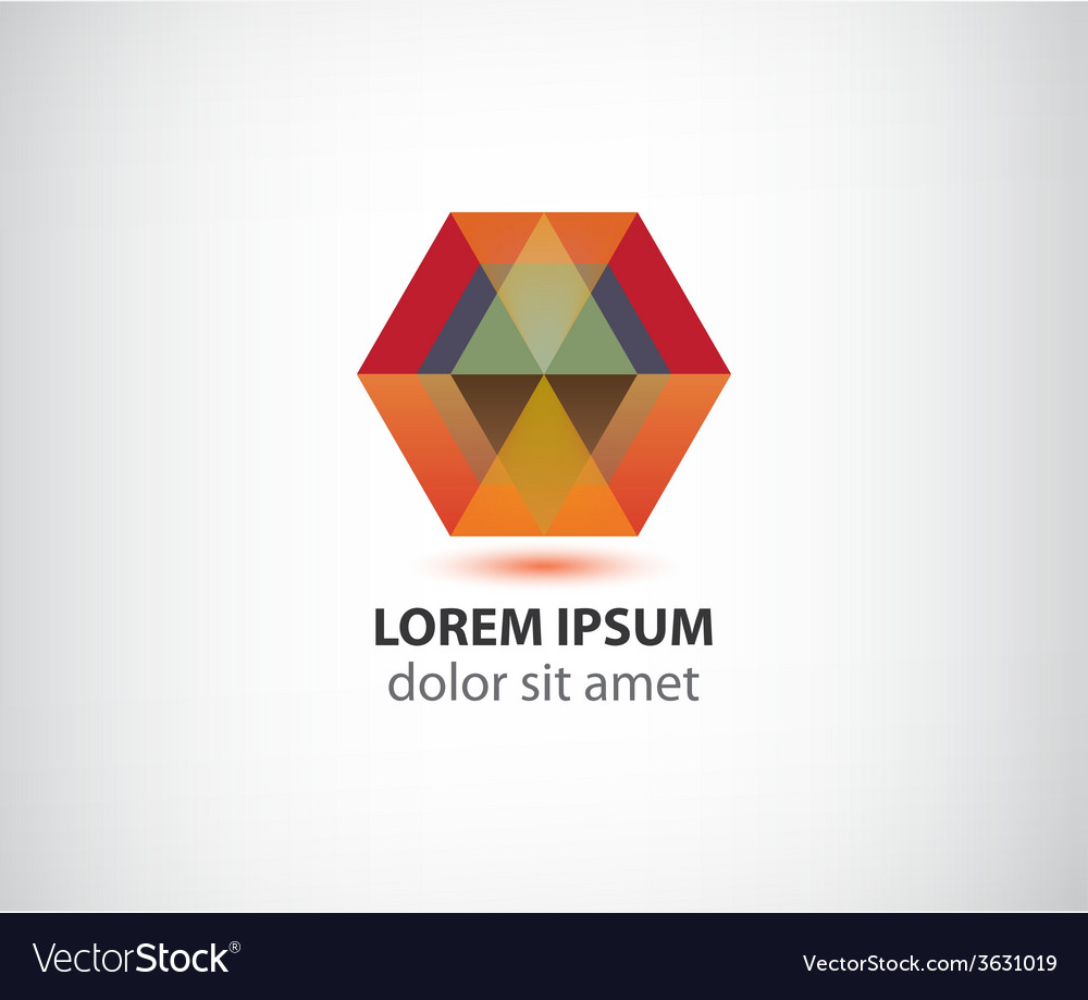 Abstract red crystal polygon geometric logo vector   Price: 1 Credit (USD $1)
