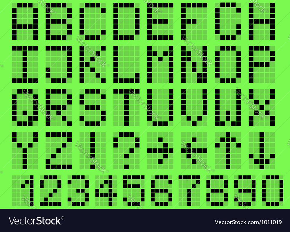 Alphabet uppercase vector | Price: 1 Credit (USD $1)