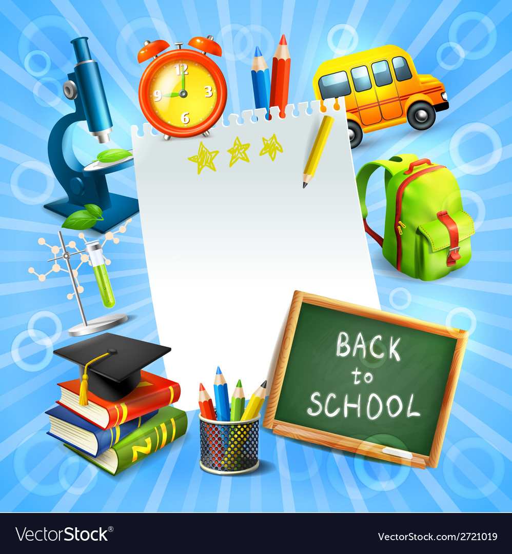 Back to school concept template vector | Price: 1 Credit (USD $1)
