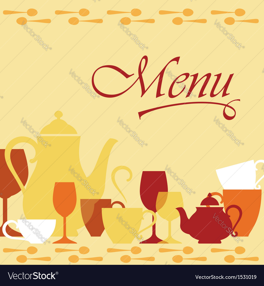 Background with dishware vector | Price: 1 Credit (USD $1)