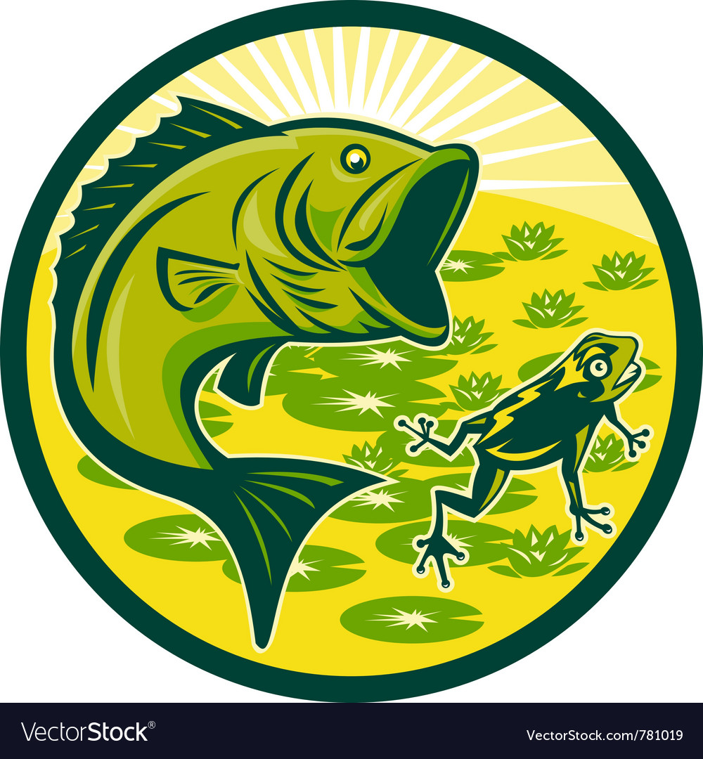 Bass fishing icon vector | Price: 1 Credit (USD $1)