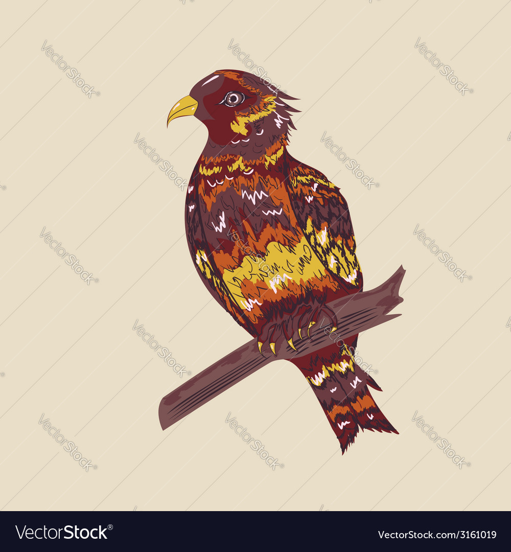 Bird in hand drawn style2 vector | Price: 1 Credit (USD $1)