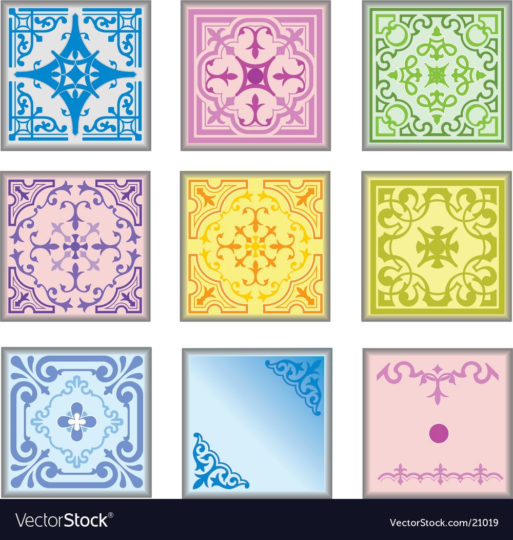 Ceramic tiles vector | Price: 1 Credit (USD $1)