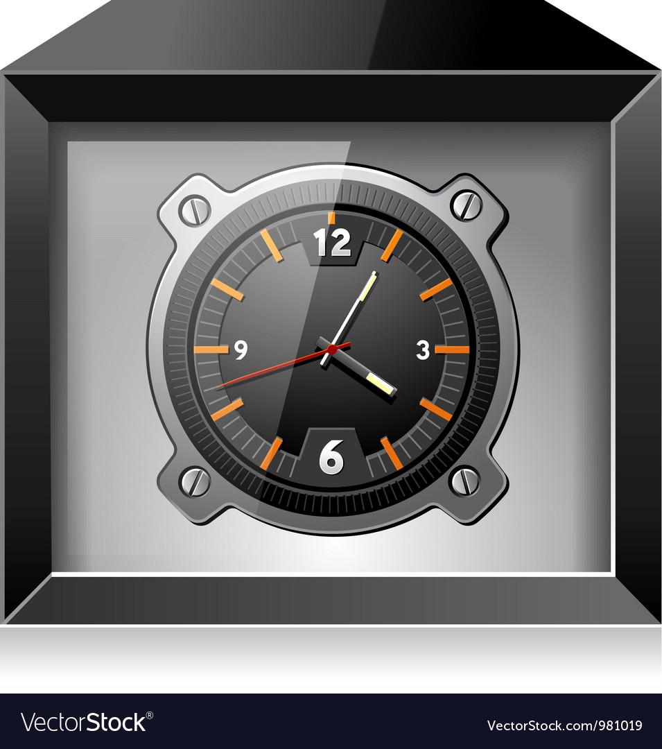 Clock in the black box vector | Price: 3 Credit (USD $3)