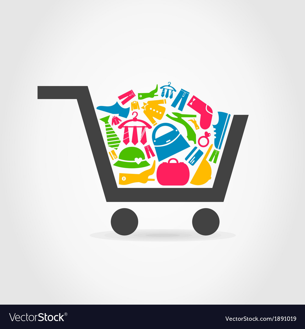 Clothes a cart vector | Price: 1 Credit (USD $1)