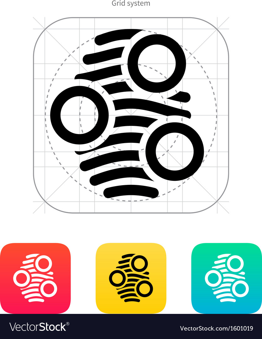 Fingerprint arch type scan icon vector | Price: 1 Credit (USD $1)