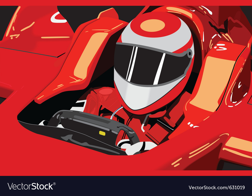 Formula one driver vector | Price: 1 Credit (USD $1)
