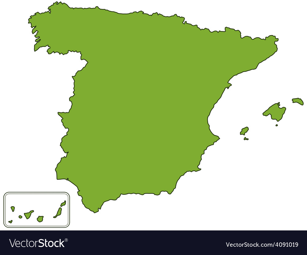 Spain map vector | Price: 1 Credit (USD $1)