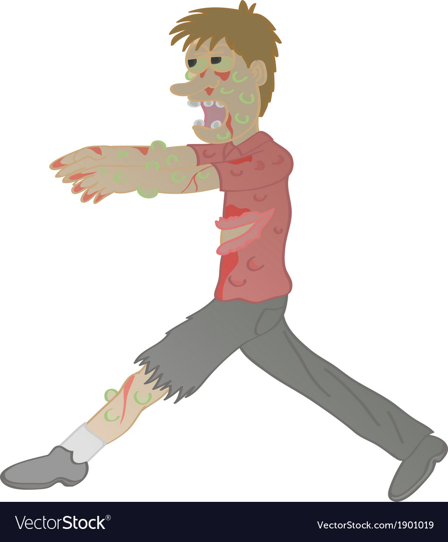Zombie cartoon vector | Price: 1 Credit (USD $1)