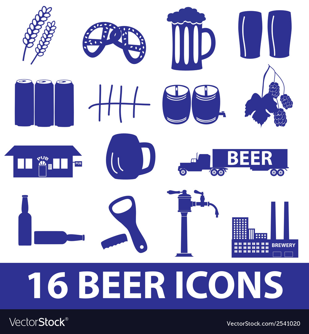 Beer icon set eps10 vector | Price: 1 Credit (USD $1)