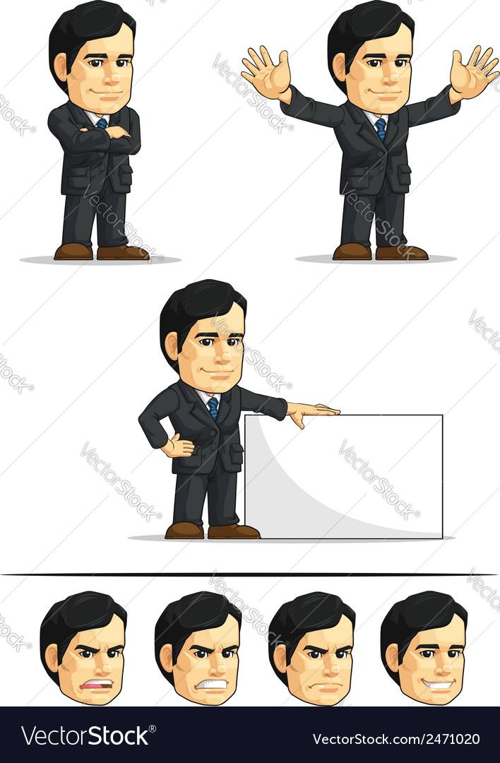 Businessman or company executive customizable 6 vector | Price: 1 Credit (USD $1)