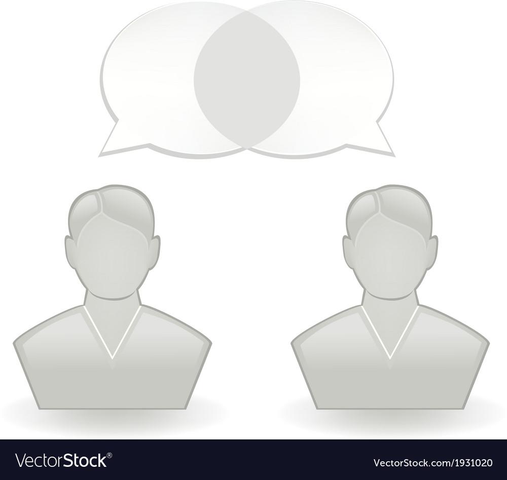Chatting vector | Price: 1 Credit (USD $1)