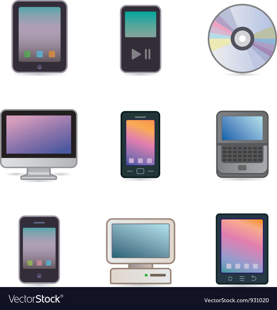 Computers devices vector | Price: 3 Credit (USD $3)