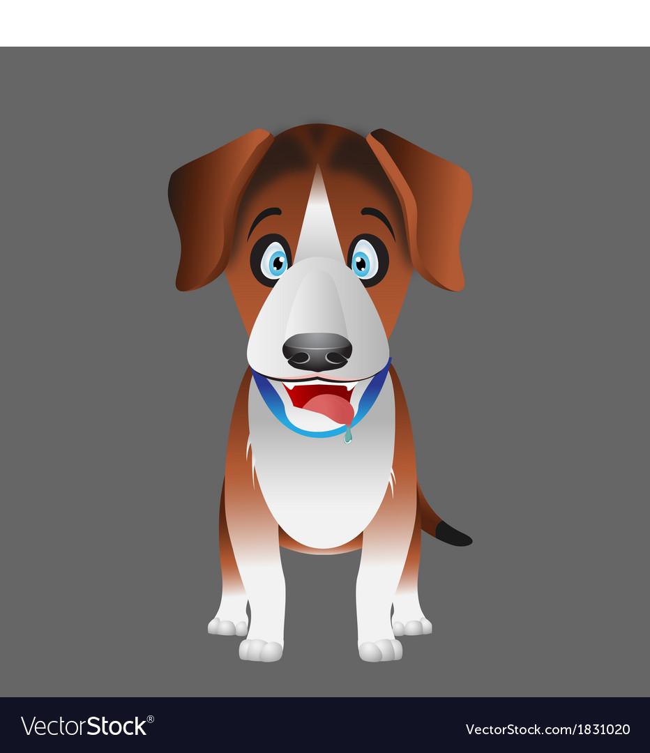 Dog beagle facing forward vector | Price: 1 Credit (USD $1)