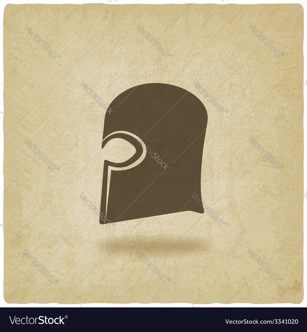 Helmet icon old background vector | Price: 1 Credit (USD $1)
