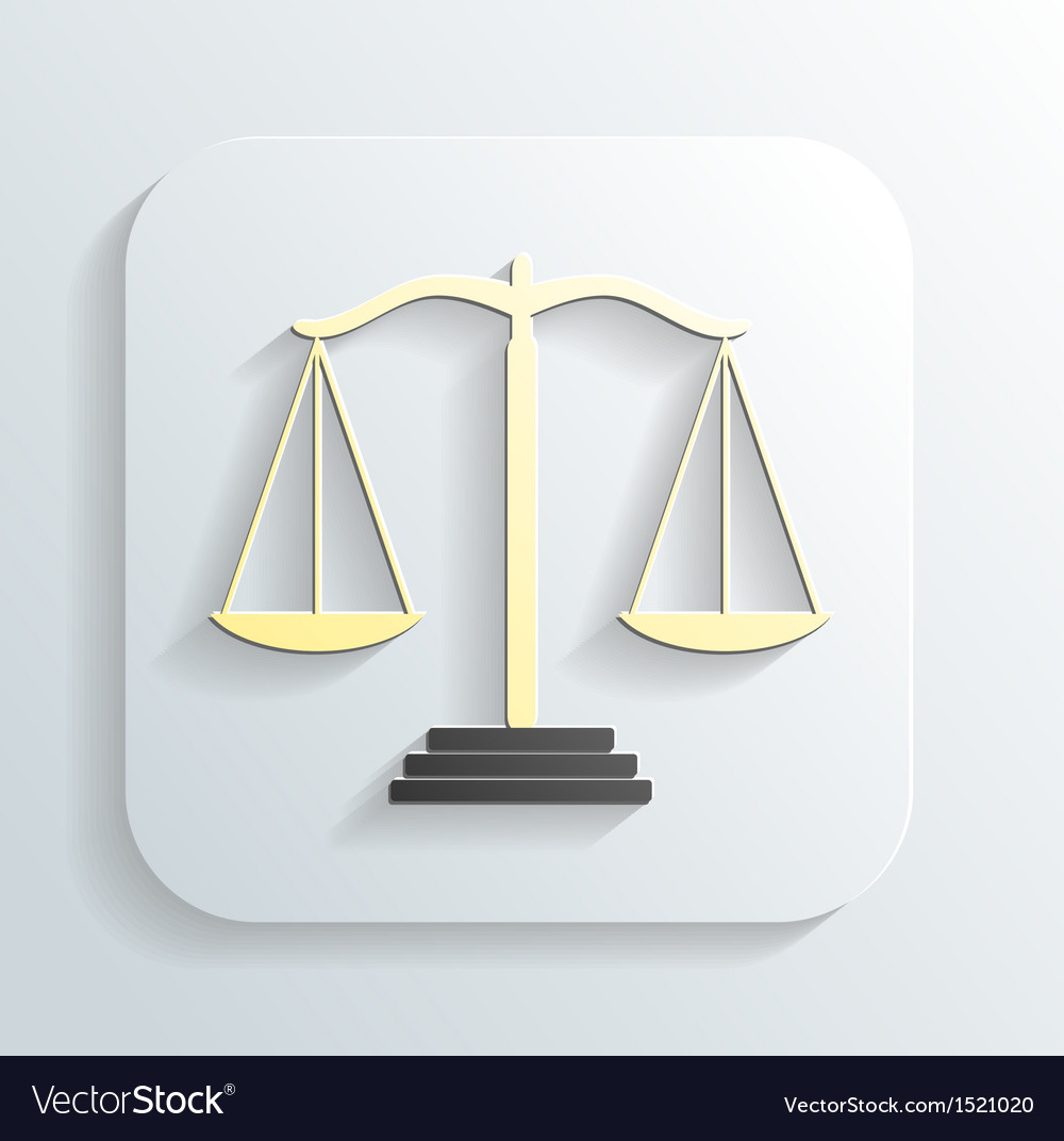 Icon of justice scales vector | Price: 1 Credit (USD $1)
