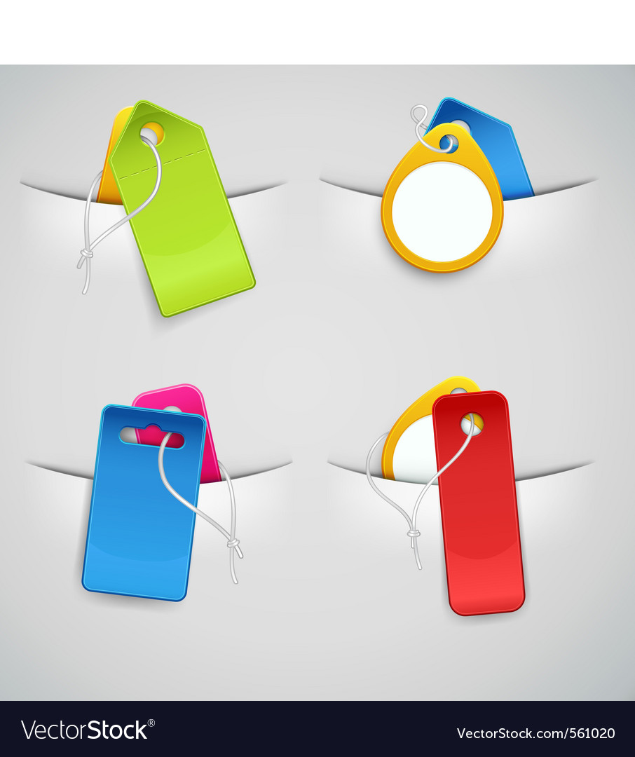Price tags vector | Price: 3 Credit (USD $3)