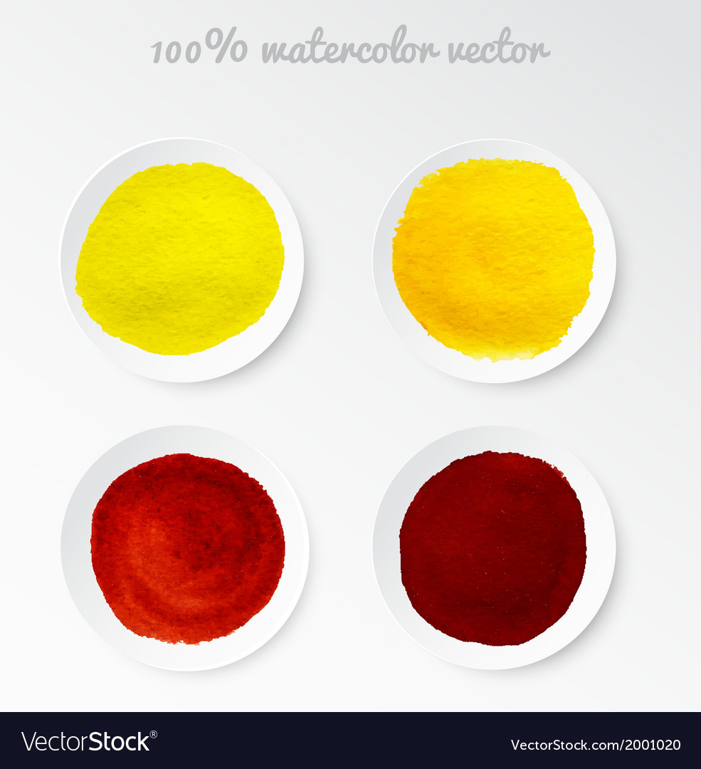 Set real watercolor circle vector | Price: 1 Credit (USD $1)