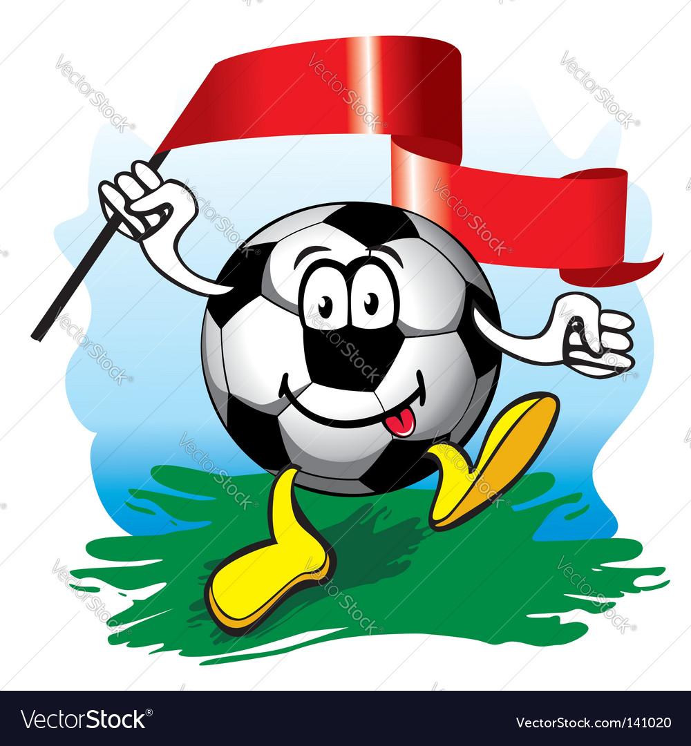 Soccer ball with flag vector | Price: 1 Credit (USD $1)