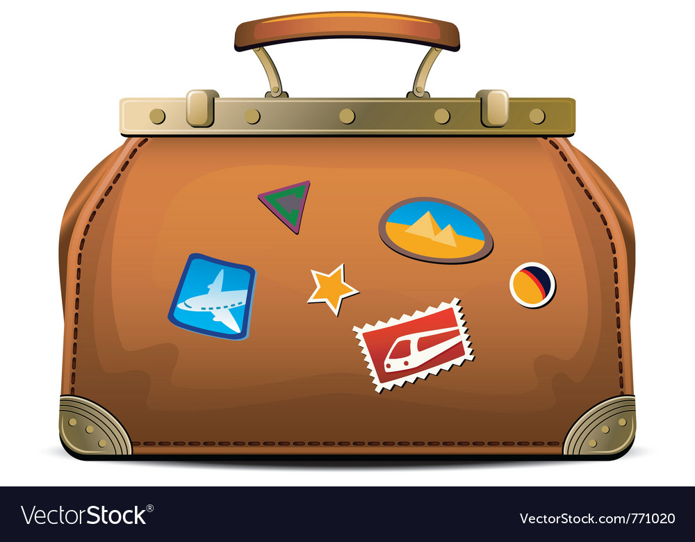 Travel luggage vector | Price: 1 Credit (USD $1)