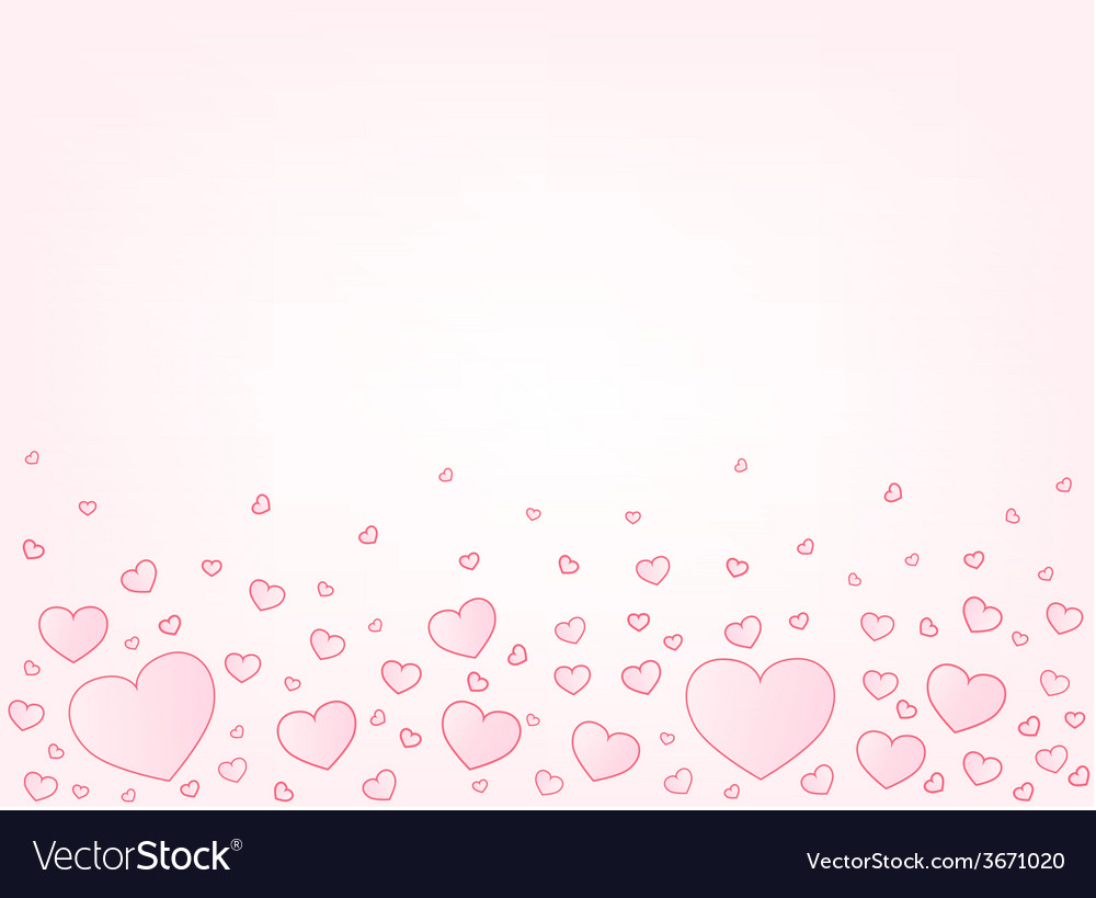 Valentine card hearts vector | Price: 1 Credit (USD $1)