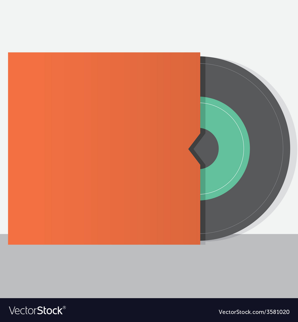Vinyl with envelope vintage style vector | Price: 1 Credit (USD $1)