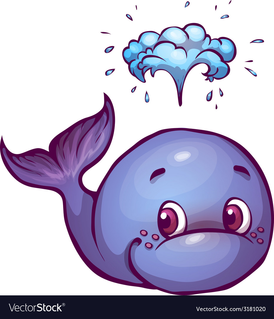 Whale in cartoon style vector | Price: 1 Credit (USD $1)