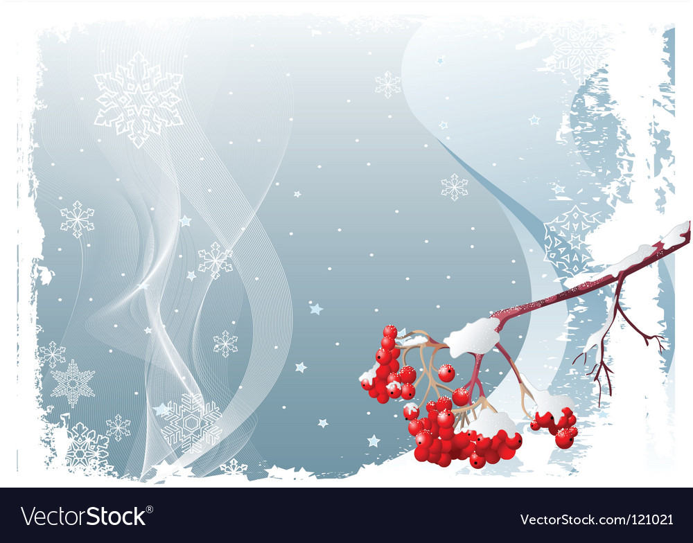 Ash tree branch winter background vector | Price: 1 Credit (USD $1)