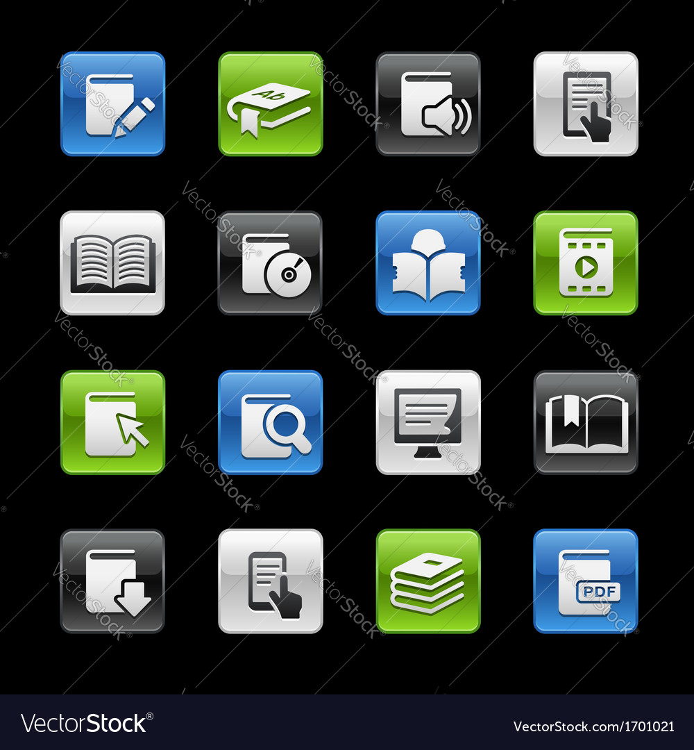 Books icons vector | Price: 1 Credit (USD $1)