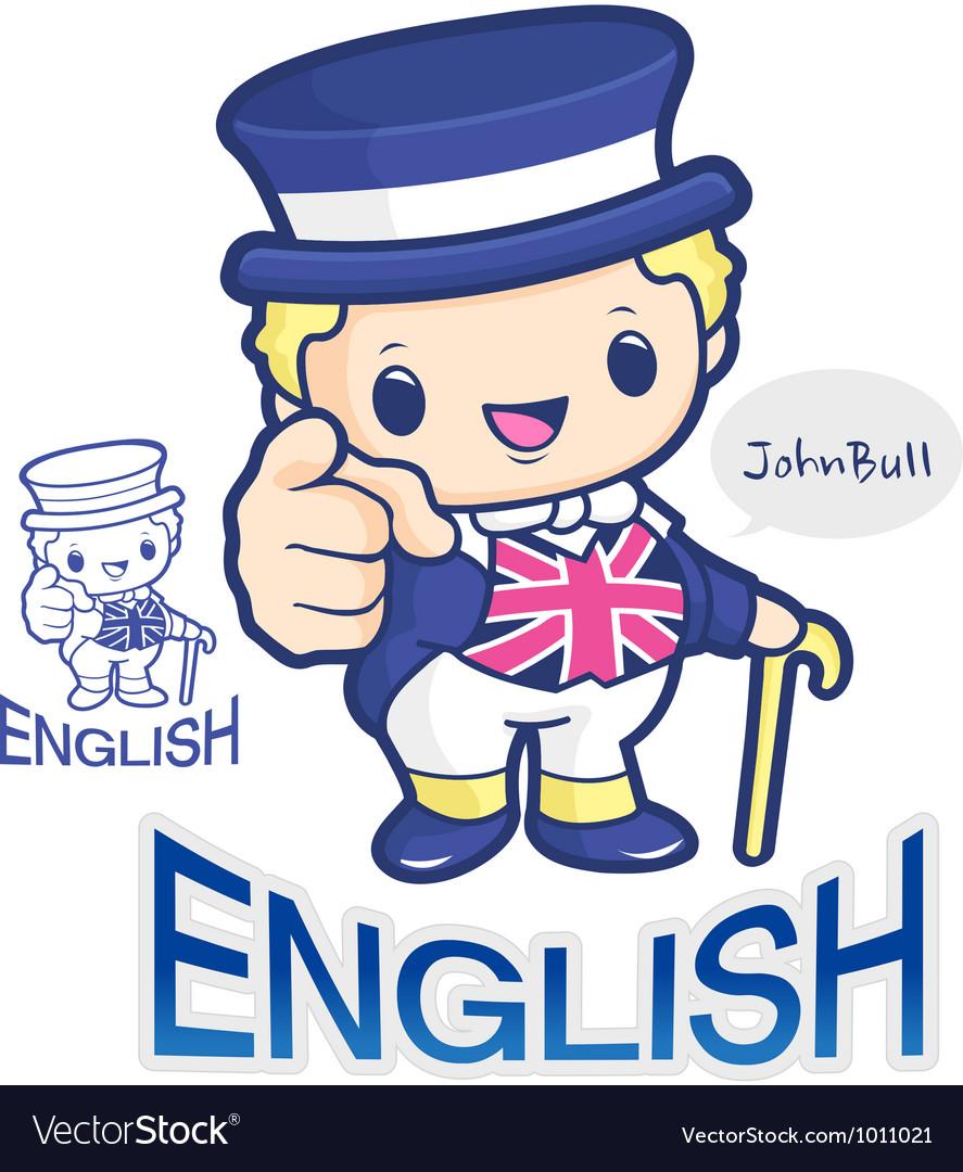 Britains john bull symbol character vector | Price: 3 Credit (USD $3)