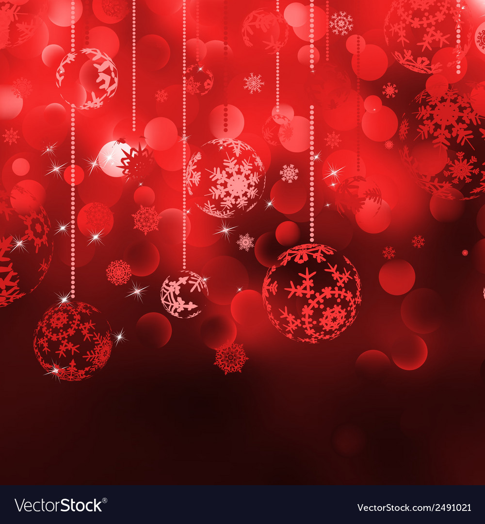 Christmas background with baubles eps 8 vector   Price: 1 Credit (USD $1)