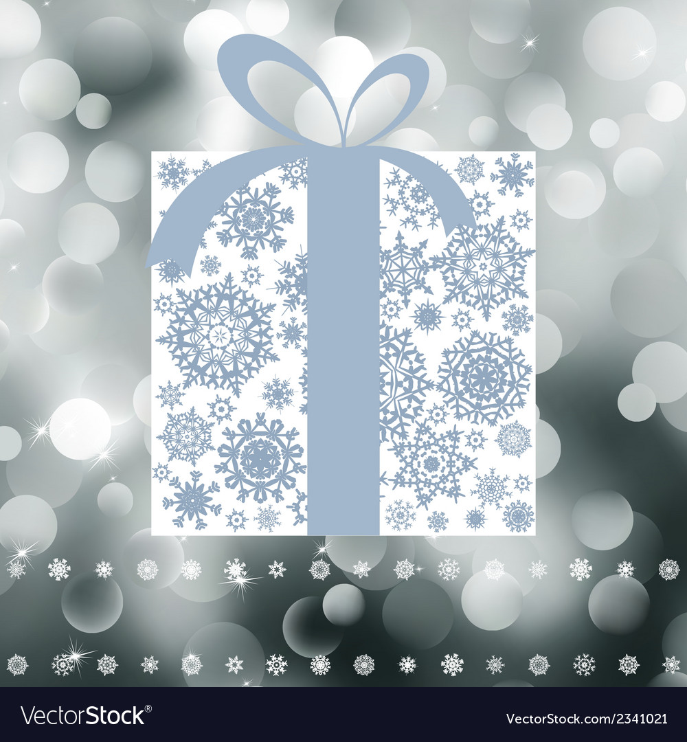 Christmas gift box with copy space card eps 8 vector | Price: 1 Credit (USD $1)