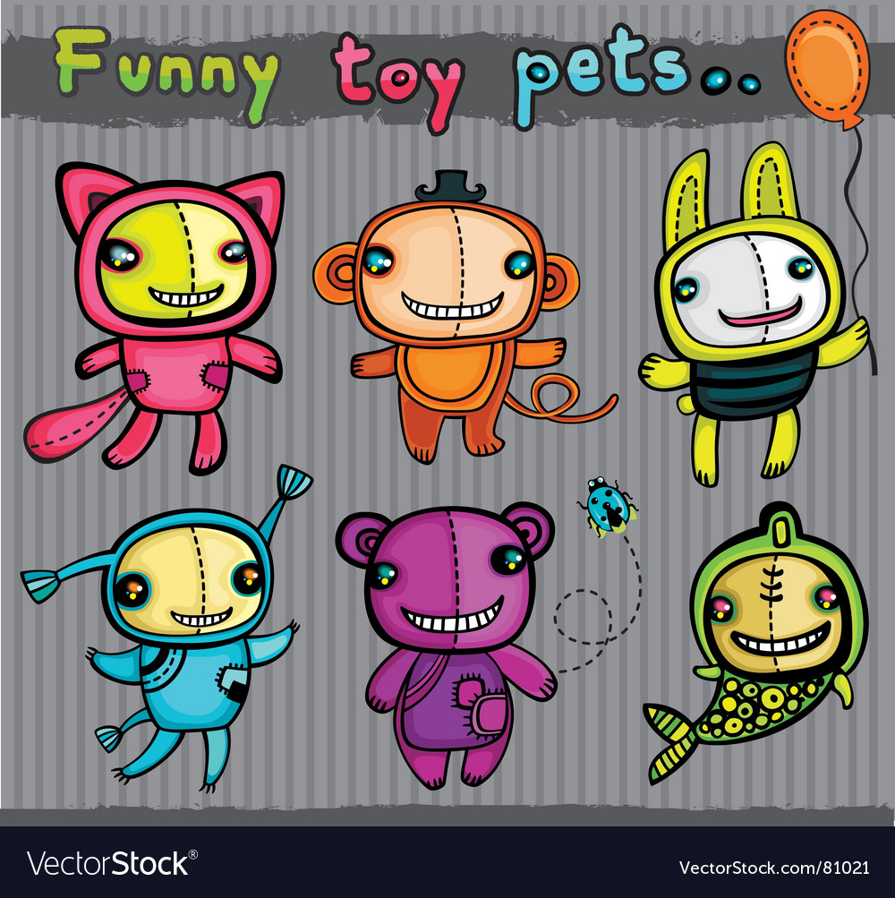 Cute toys animals vector | Price: 3 Credit (USD $3)