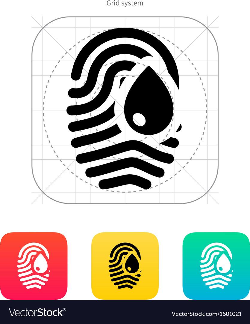 Damage fingerprint icon vector | Price: 1 Credit (USD $1)