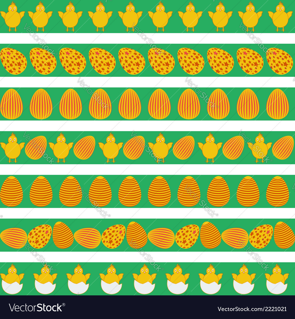 Easter colorful borders vector | Price: 1 Credit (USD $1)