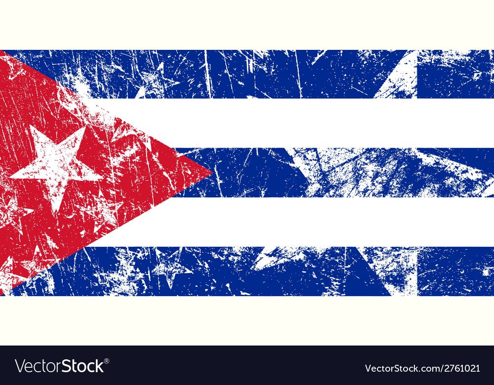 Grunge cuban flag artwork vector | Price: 1 Credit (USD $1)