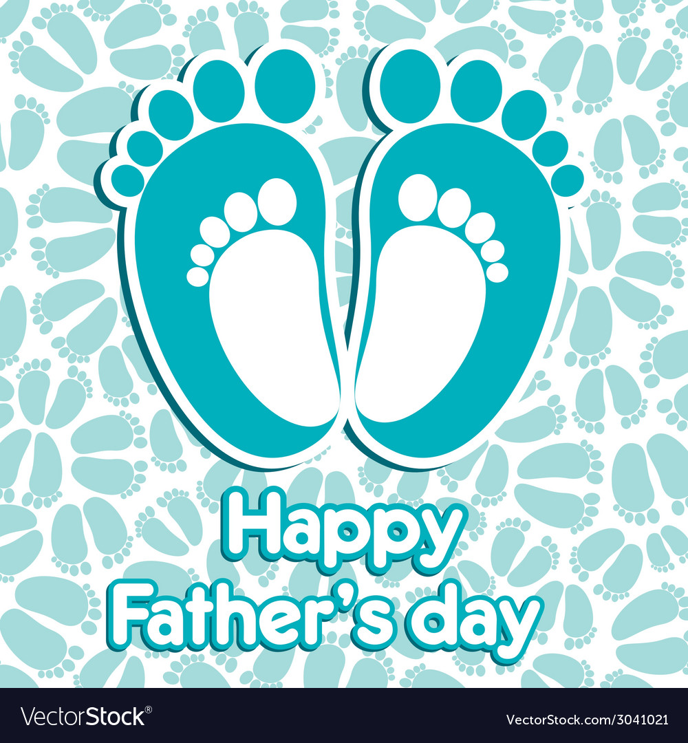 Happy fathers day greeting background vector | Price: 1 Credit (USD $1)